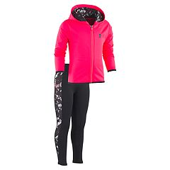 Girls 4-6x Under Armour Solid Logo Hoodie & Shatter Leggings Set