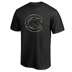 Men's Majestic Chicago Cubs Camouflage Logo Graphic Tee