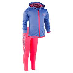 Girls 4-6x Under Armour Solid Hoodie & Grid Leggings Set