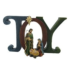 St. Nicholas Square® 'Joy' Nativity Scene Christmas Table Decor
