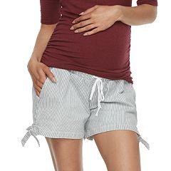 Maternity a:glow Knot Hem Shorts