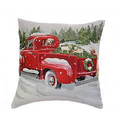 St. Nicholas Square® Truck & Puppies Throw Pillow