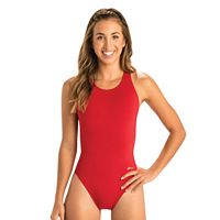 Women's Dolfin Performance Back Solid One-Piece Swimsuit