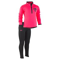 Girls 4-6x Under Armour 1/2-Zip Heart Pullover & Leggings Set