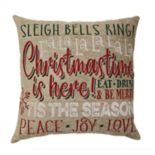 St. Nicholas Square® Sleigh Bells Ring Throw Pillow