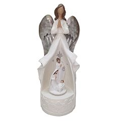 St. Nicholas Square® Wind-Up Musical Angel Christmas Table Decor