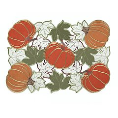 Celebrate Fall Together Cutout Pumpkin Placemat