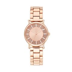 Jennifer Lopez Women's Olivia Crystal Baguette Glitz Watch