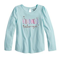 Girls 4-10 Jumping Beans® Keyhole-Back Graphic Tee