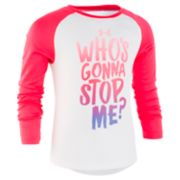 "Girls 4-6x Under Armour ""Who's Gonna Stop Me?"" Graphic Tee"