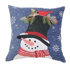 St. Nicholas Square® Snowman Tapestry Throw Pillow