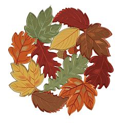 Celebrate Fall Together Cutout Leaf Placemat