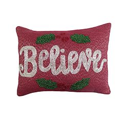 St. Nicholas Square® Believe Beaded Throw Pillow