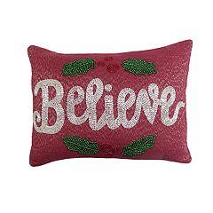 St. Nicholas Square® Believe Beaded Throw Pillow