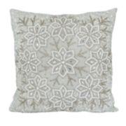 St. Nicholas Square® Snowflake Beaded Throw Pillow