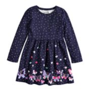 Girls 4-10 Jumping Beans® Shirred Skater Dress