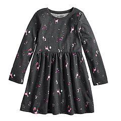 Girls 4-10 Jumping Beans® Shirred Skater Dress