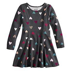 Girls 4-12 Jumping Beans® Long Sleeve Princess Seam Print Dress
