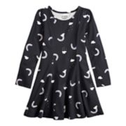 Girls 4-12 Jumping Beans® Long Sleeve Princess Seam Print Dress