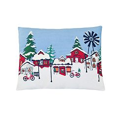 St. Nicholas Square® Village LED & Musical Throw Pillow