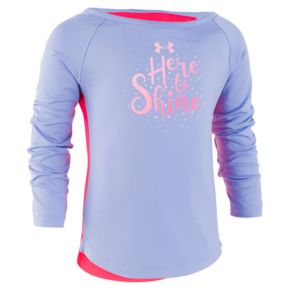 """Girls 4-6x Under Armour """"Here To Shine"""" Graphic Top"""