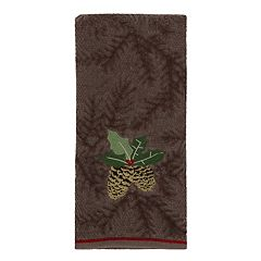 St. Nicholas Square® Christmas Traditions Pinecone Hand Towel