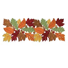 Celebrate Fall Together Cutout Leaf Table Runner - 36'