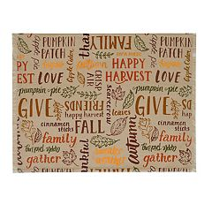 Celebrate Fall Together Thanksgiving Word Toss Placemat