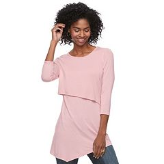 Maternity a:glow Asymmetrical Popover Nursing Top