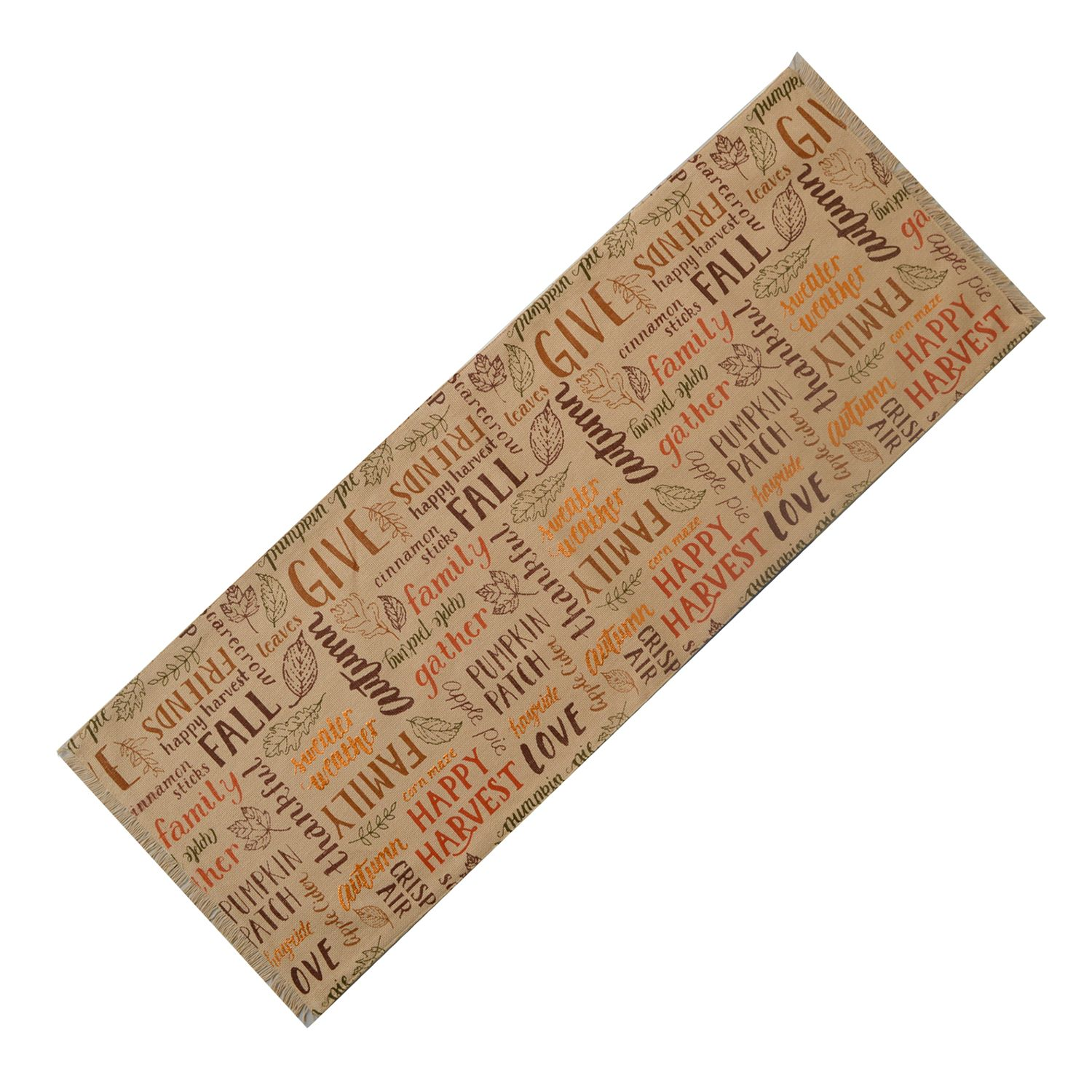 Celebrate Fall Together Thanksgiving Word Toss Table Runner   36u0027