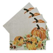 Celebrate Fall Together Tapestry Pumpkin Placemat 4-pack