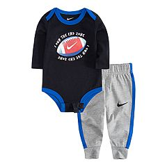 Baby Boy Nike Football Bodysuit & Jogger Pants Set