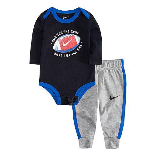 Baby Boy Nike Football Bodysuit & Jogger Pants Set