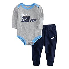 Baby Boy Nike 'I Have Arrived' Bodysuit & Jogger Pants Set