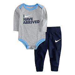 Baby Boy Nike 'I Have Arrived' Bodysuit & Jogger Pants Set