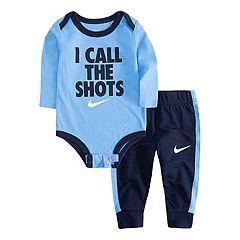 Baby Boy Nike 'I Call The Shots' Bodysuit & Jogger Pants Set