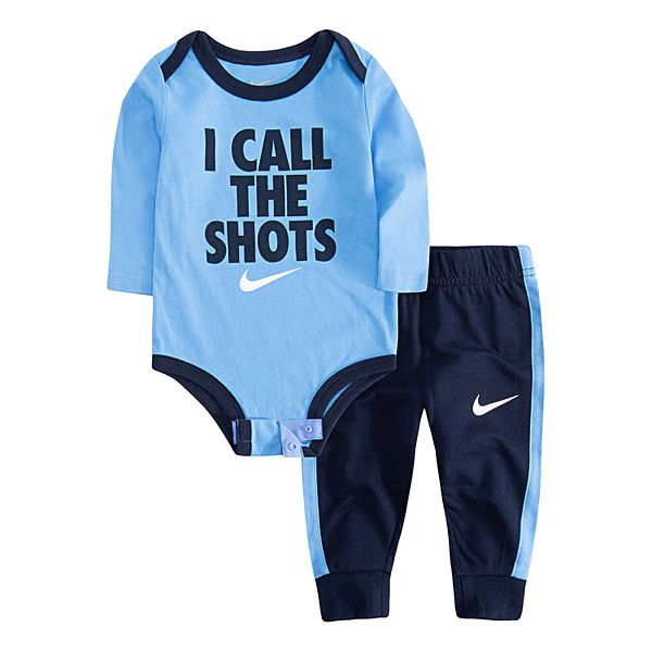 Baby Boy Nike I Call The Shots Bodysuit Jogger Pants Set