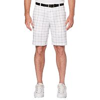 Men's Grand Slam Active Waistband Space Dyed Plaid Golf Shorts