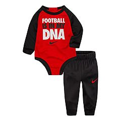 Baby Boy Nike 'Football Is In My DNA' Raglan Bodysuit & Pants Set