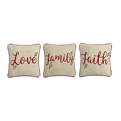 St. Nicholas Square® Love Family Faith Throw Pillow 3-piece Set