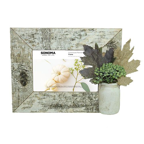 "SONOMA Goods for Life™ Faux Birch Farmhouse 4"" x 6"" Frame"