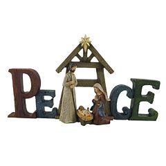 St. Nicholas Square® 'Peace' Nativity Scene Christmas Table Decor