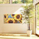 Sunburst 2 Sunflower Canvas Wall Art