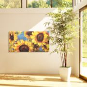 Sunburst 2 Sunflower Canvas Wall Art