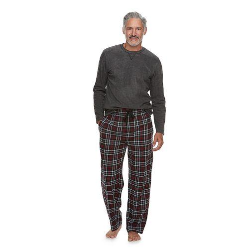 Men S Chaps Fleece Sleep Sleep Top Amp Plaid Flannel Sleep