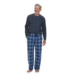 Men's Chaps Fleece Top & Plaid Flannel Lounge Pants Set