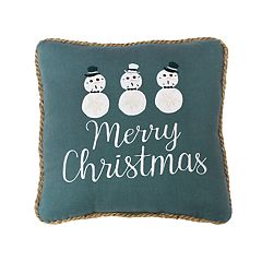 St. Nicholas Square® 'Merry Christmas' Seashell Throw Pillow