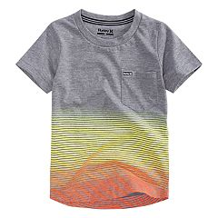 Toddler Boy Hurley Ombre Striped Pocket Tee