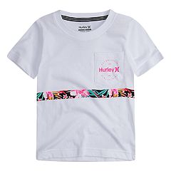Toddler Boy Hurley Floral Stripe Pocket Tee