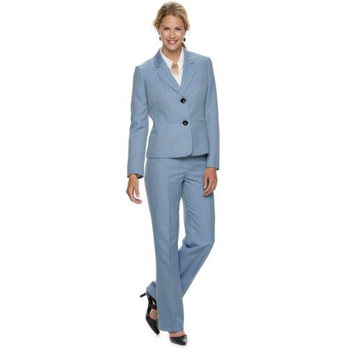 Women S Le Suit Herringbone Jacket Pant Suit